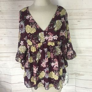 Crave Fame Floral baby doll top New